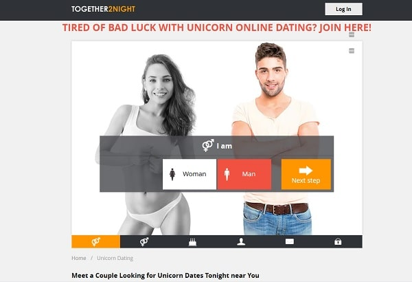 Together2Night.com to find a unicorn
